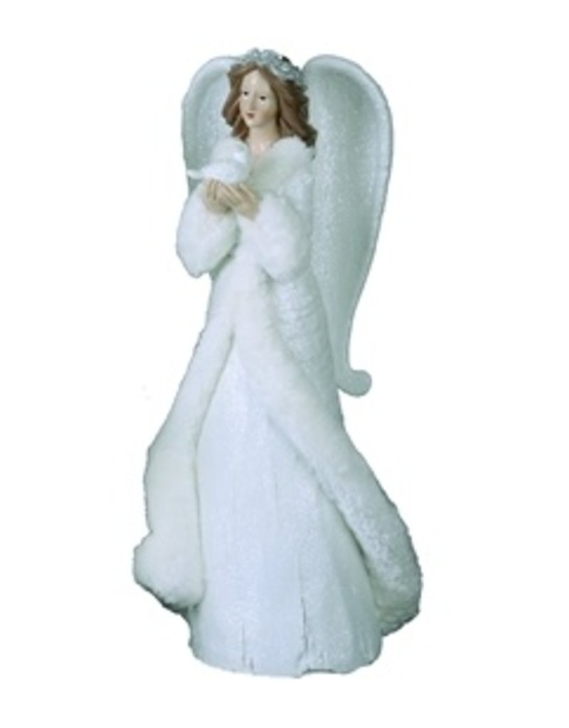 Transpac White Elegant Angel With Bird