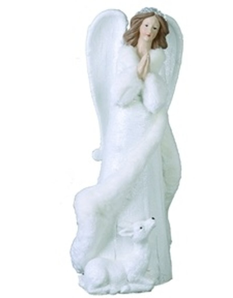 Transpac White Elegant Angel With Deer