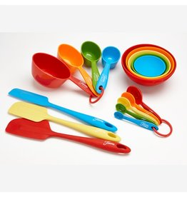 17 Pc Fiesta® Kitchen Tool and Bake Set Multi-Color
