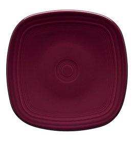 "Square Dinner Plate 10 3/4"" Claret"