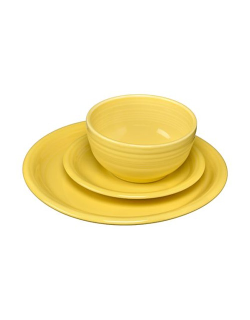 3 pc Bistro Place Setting Sunflower