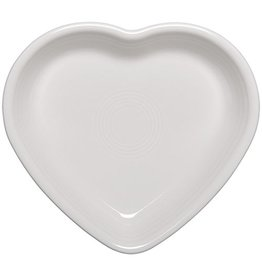 Medium Heart Bowl 19 oz White