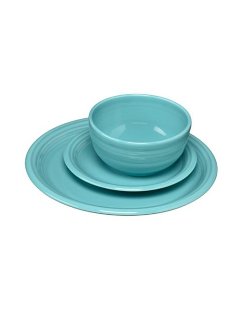3 pc Bistro Place Setting Turquoise