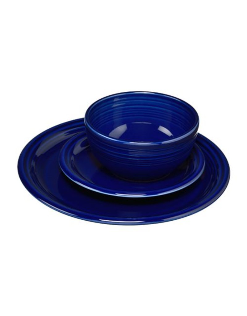 3 pc Bistro Place Setting Cobalt Blue