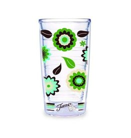 Tervis Cool Blue Flower 16 oz Tumbler
