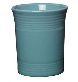 "Utensil Crock 6 5/8"" Turquoise"