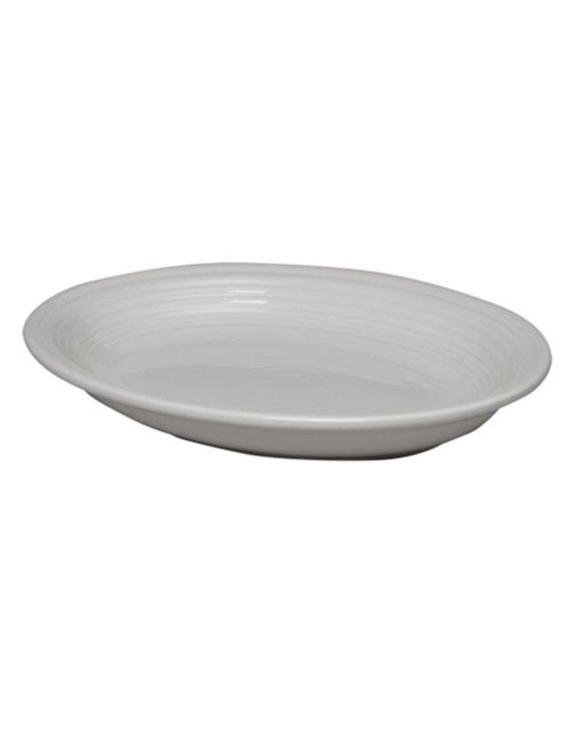 """Medium Oval Platter 11 5/8"""" White"""