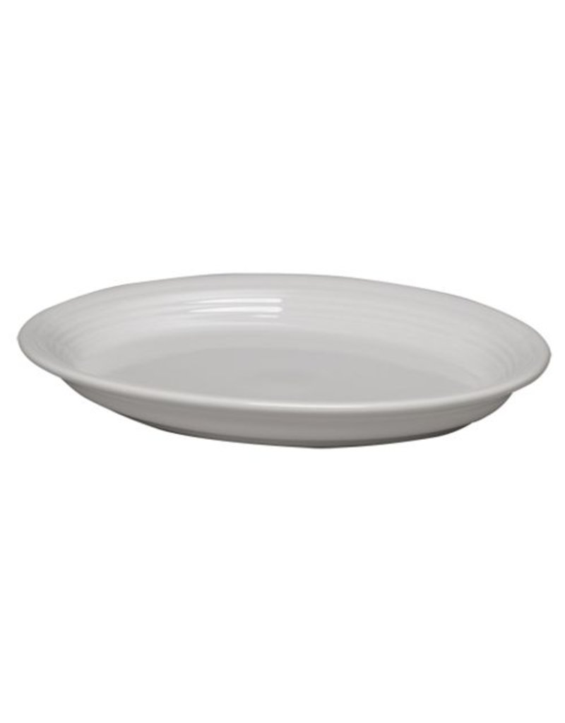"Large Oval Platter 13 5/8"" White"