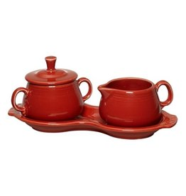 Sugar Cream Tray Set Scarlet