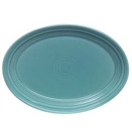 "Extra Large Oval Platter 19 1/4"" Turquoise"