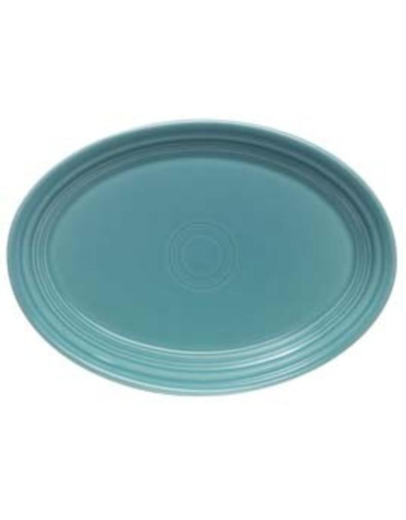 """Extra Large Oval Platter 19 1/4"""" Turquoise"""