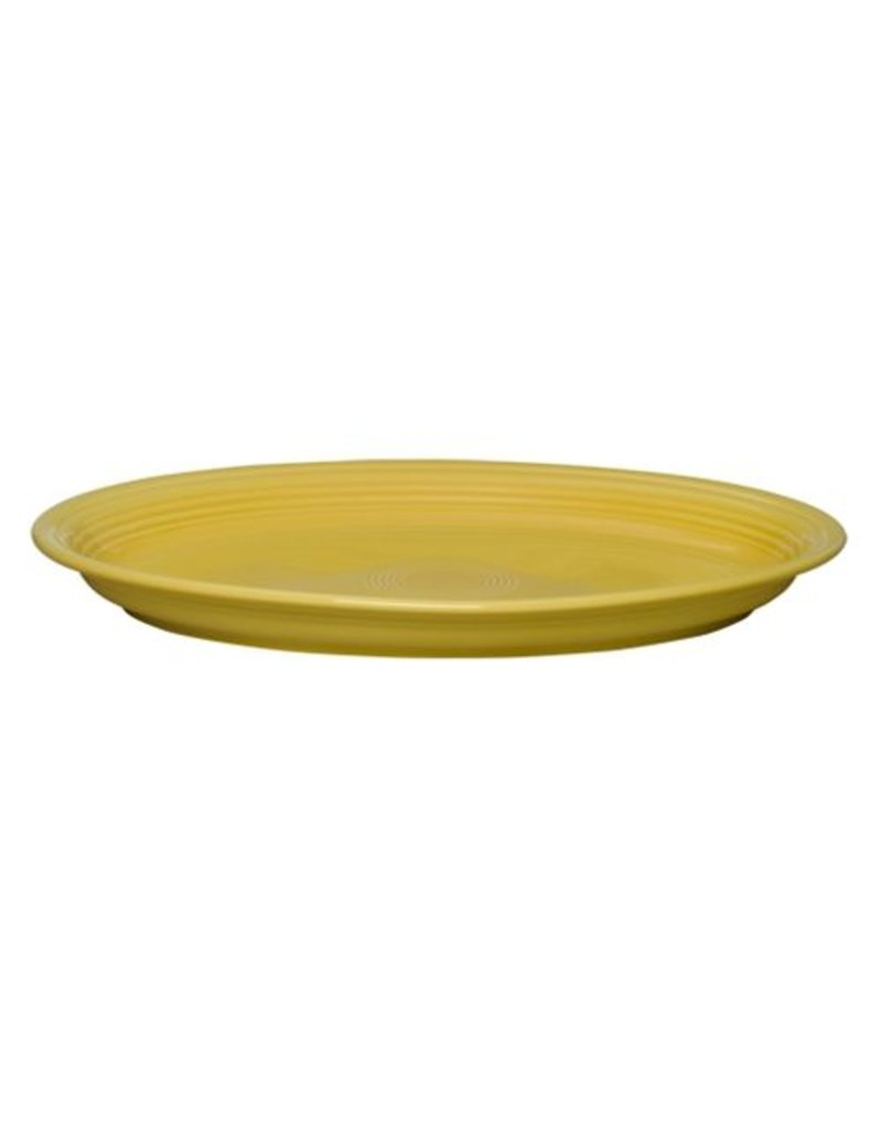 "Extra Large Oval Platter 19 1/4"" Sunflower"