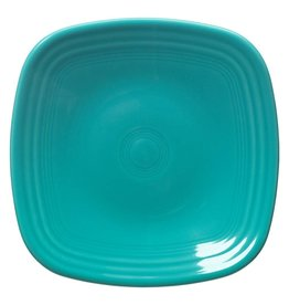 "Square Salad Plate 7 1/2"" Turquoise"