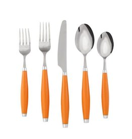 5 pc Flatware Tangerine