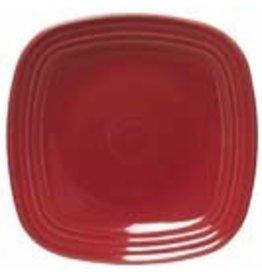 "Square Salad Plate 7 1/2"" Scarlet"