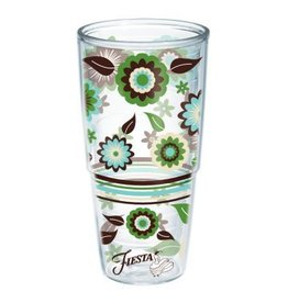 Tervis Cool Blue Flowers 24 oz Tumbler