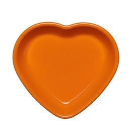 Medium Heart Bowl 19 oz Tangerine