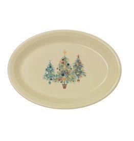 Large Oval Platter Fiesta® Christmas Trio Tree