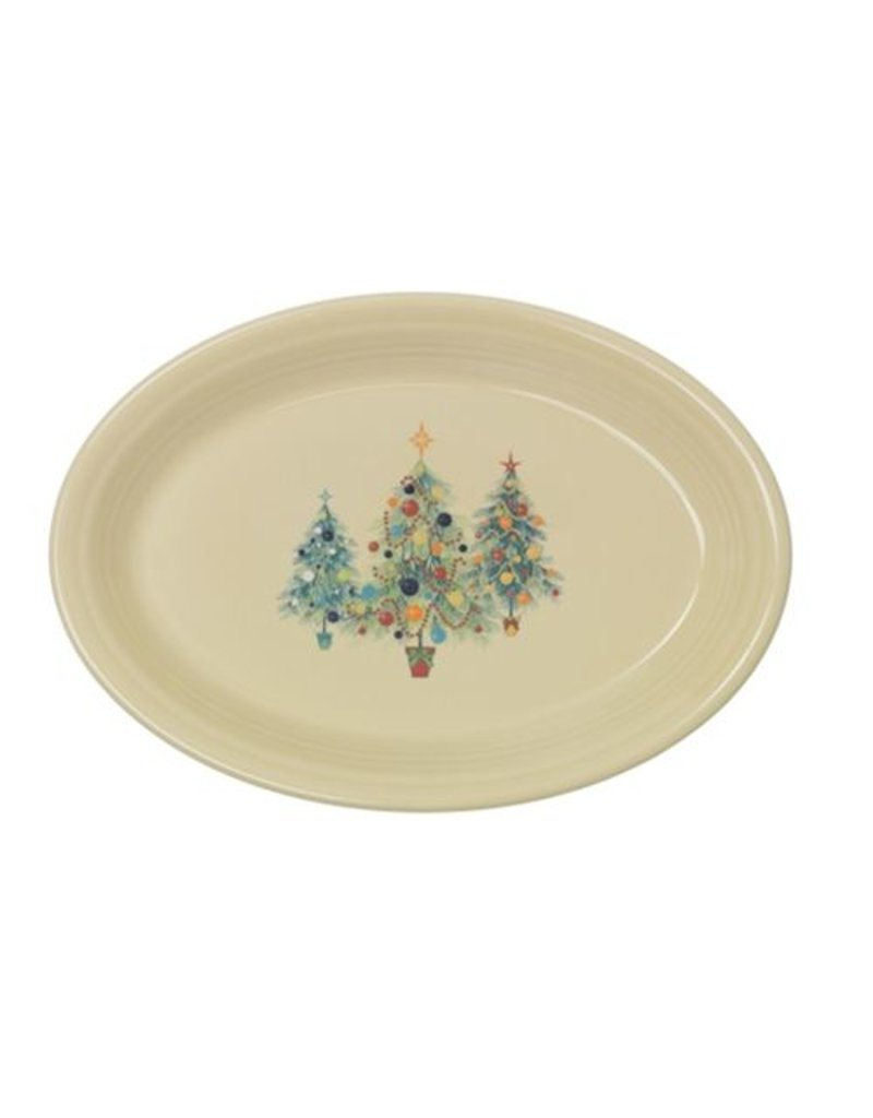 Large Oval Platter Fiesta® Christmas Trio Tree