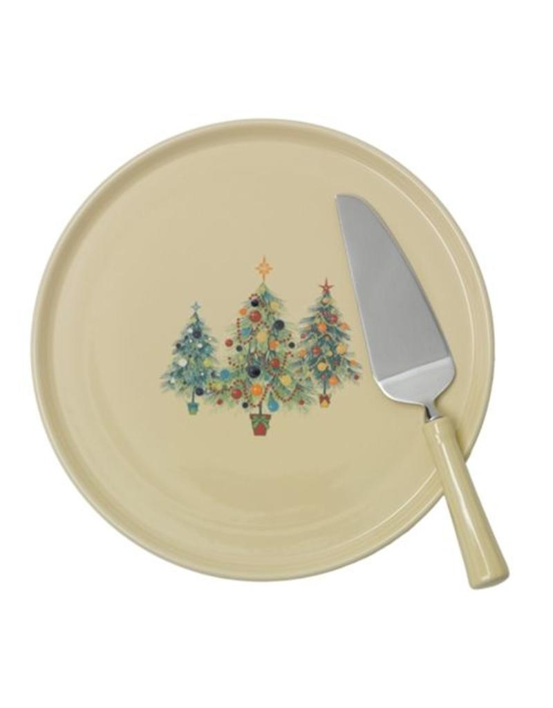 Cake Plate with Ceramic Handled Server Fiesta® Christmas Trio Tree  sc 1 st  Canton Dish Barn & Cake Plate with Ceramic Handled Server Fiesta® Christmas Trio Tree ...