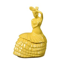 Dancing Lady Cookie Jar Sunflower