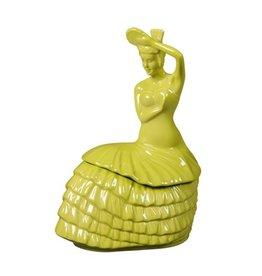 Dancing Lady Cookie Jar Lemongrass