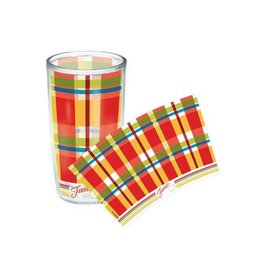 Tervis Poppy Plaid 16 oz Tumbler