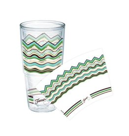 Tervis Cool Blue Wavy 24 oz Tumbler