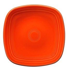 """Square Dinner Plate 10 3/4"""" Poppy"""