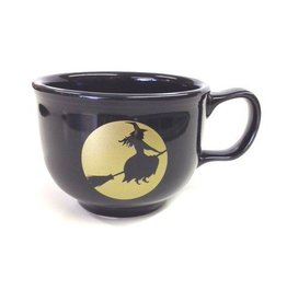 Jumbo Cup Halloween Black & Gold Moon Lit Witch