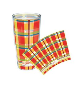 Tervis Poppy Plaid 24 oz Tumbler