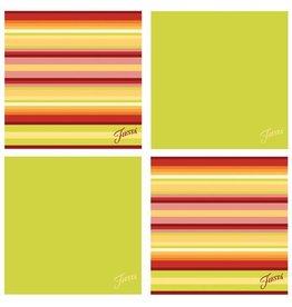Thirstystone Warm Stripe/Lemongrass 4 pc Coaster Set