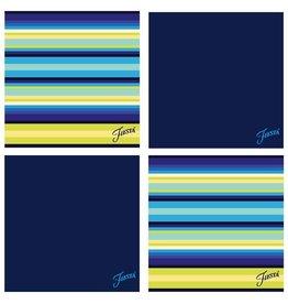 Thirstystone Cool Stripe/Cobalt Blue 4 pc Coaster Set