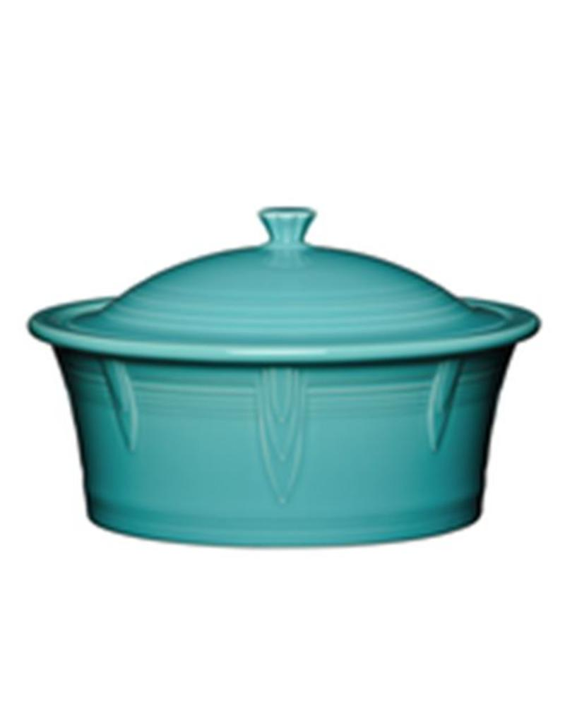 Large Covered Casserole 90 oz Turquoise