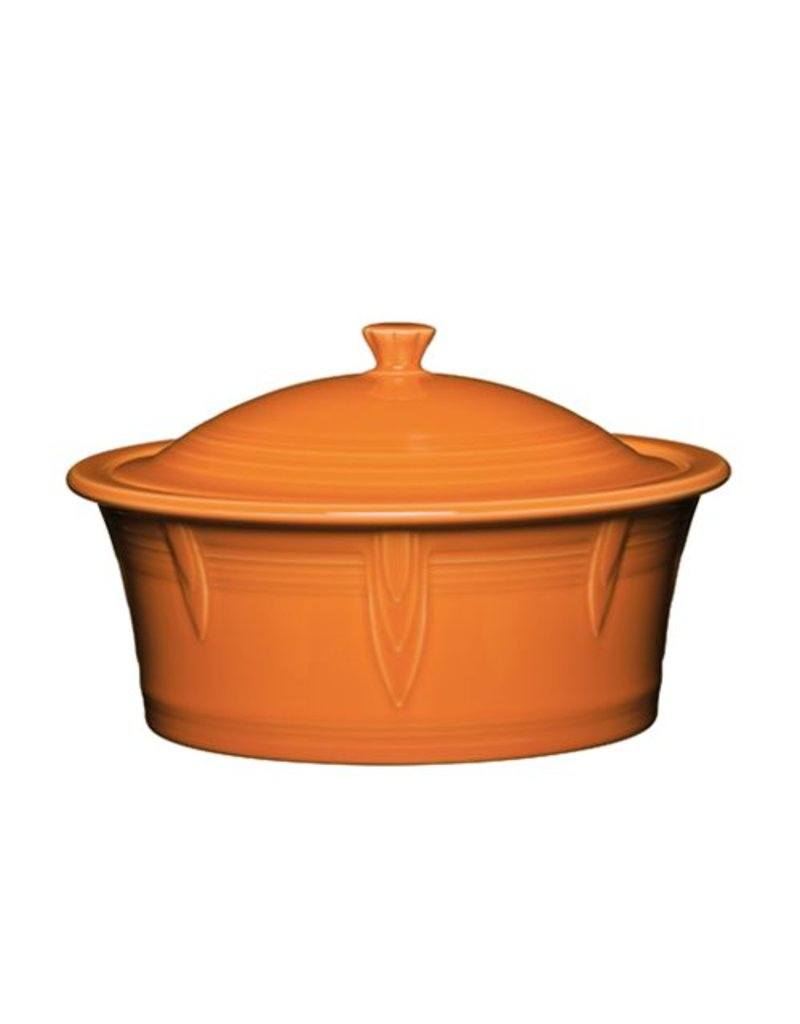 Large Covered Casserole 90 oz Tangerine