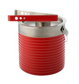 Ice Bucket & Tongs Scarlet