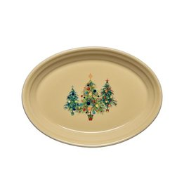 Small Oval Platter Christmas Trio of Trees