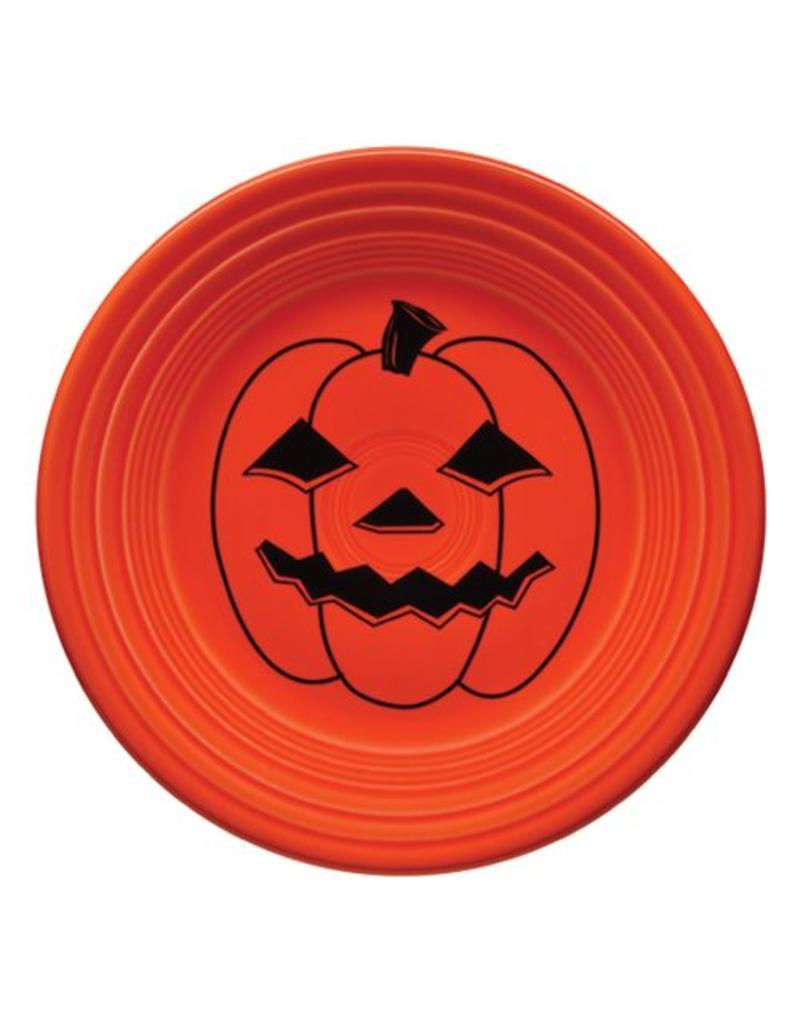 Luncheon Plate Halloween Spooky Pumpkin