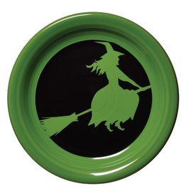 Appetizer Plate Halloween Moon Lit Witch
