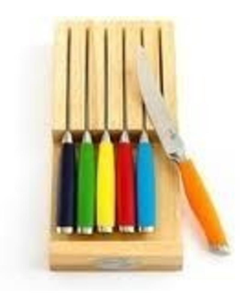 7 pc Forged Steak Knife Set Fiesta® Multi-Color