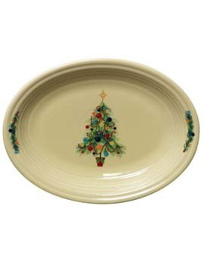 "Medium Oval Platter 11 5/8"" Fiesta® Christmas Tree"