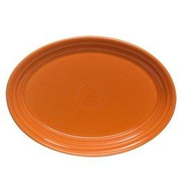 """Small Oval Platter 9 5/8"""" Tangerine"""