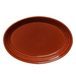 "Small Oval Platter 9 5/8"" Paprika"