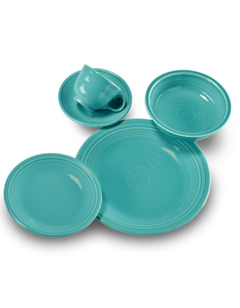 5 pc Place Setting (cup/scr) Turquoise