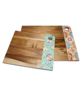 2 pc Acacia Wood Fiesta® Patterened Cutting Board