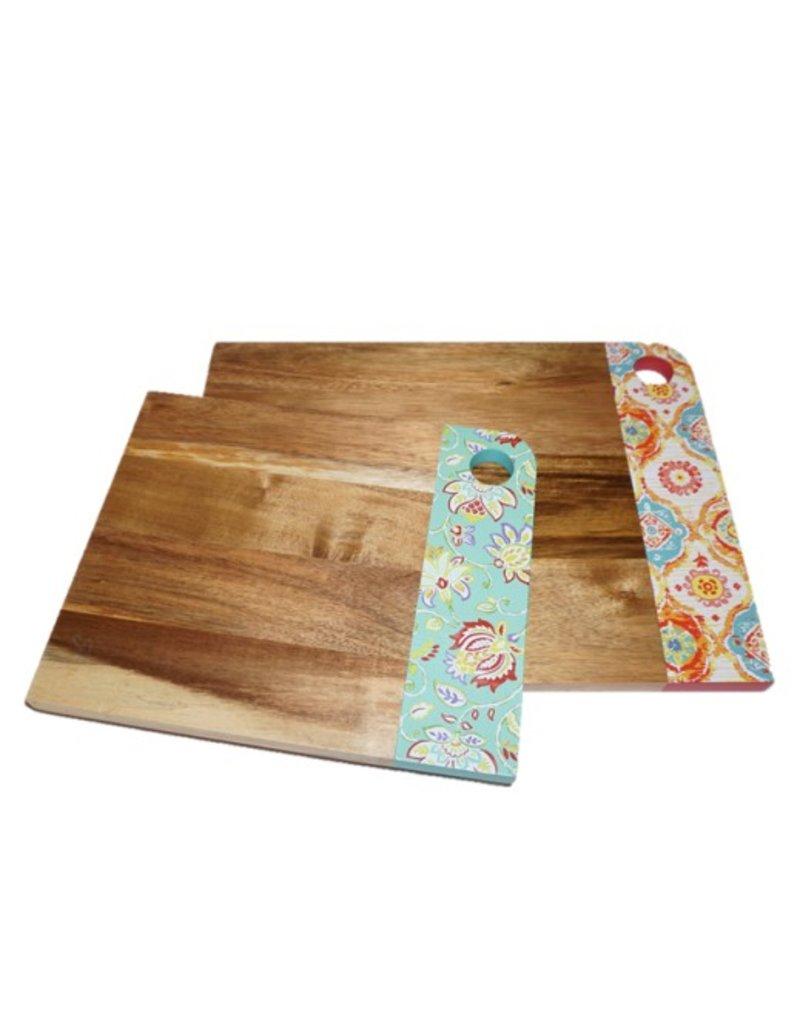 2 pc Acacia Wood Fiesta® Patterened Cutting Board