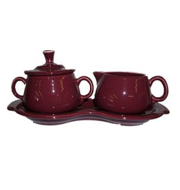 Sugar Cream Tray Set Claret