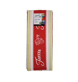 Fiesta® Stripe Kitchen Towel Scarlet