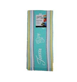 Fiesta® Stripe Kitchen Towel Turquoise