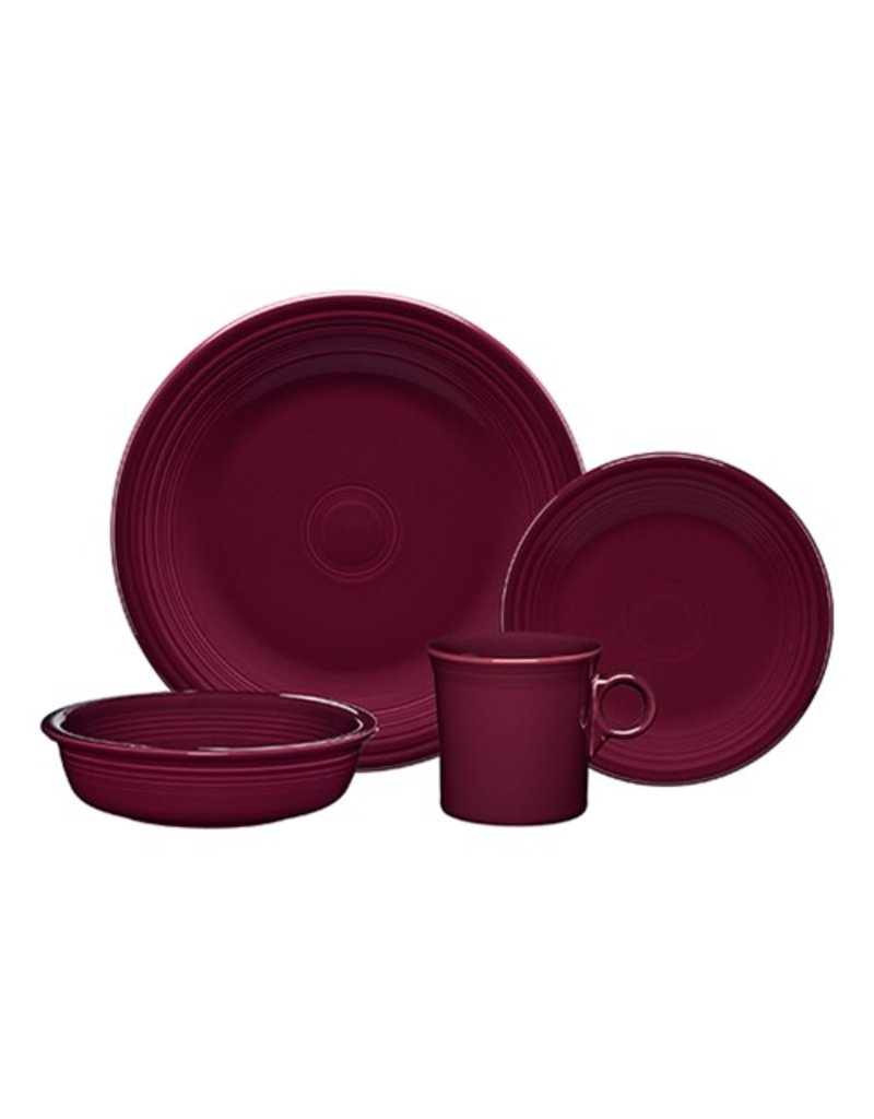 4 Piece Place Setting Claret